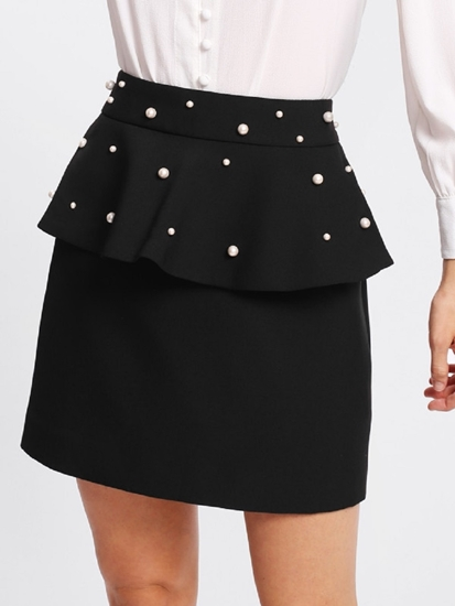 Picture of Ruffle Skirt With Pearl