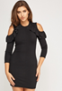 Picture of Open Shoulder Long Sleeve Dress