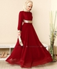 Picture of Long Chiffon Evening Dress