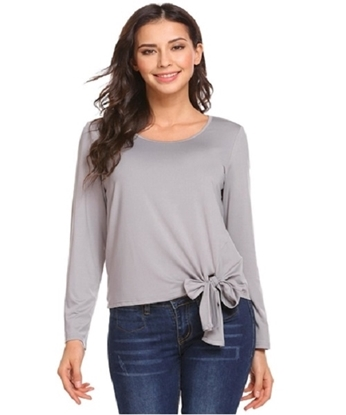 Picture of long sleeves T-shirt with bow