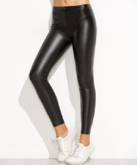 Picture of Elastic Leatherette Leggings