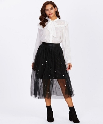 Picture of Skirt With Pearl and Tulle