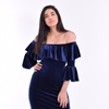 Picture of Velvet Dress With Ruffle Collar